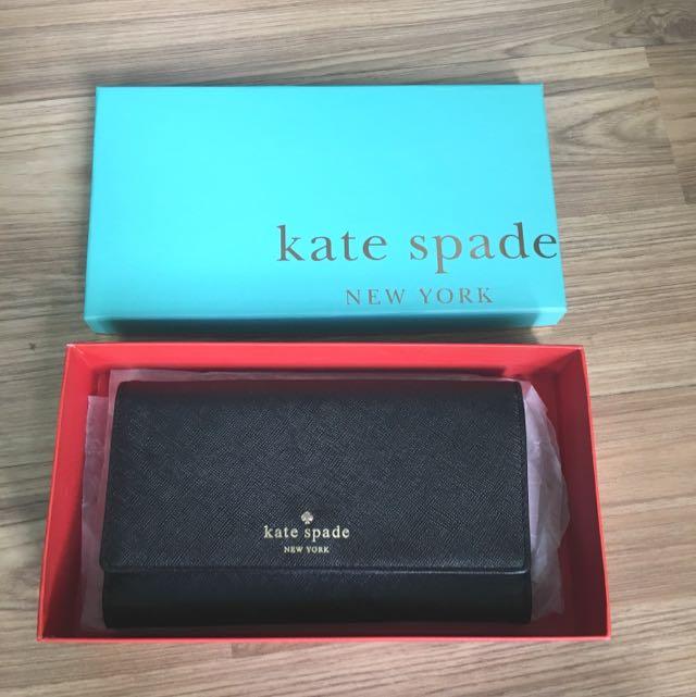 美國Kate Spade 黑色經典長夾