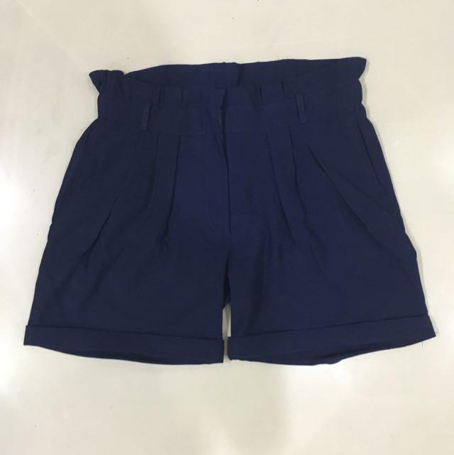 Korean Shorts Navy Blue