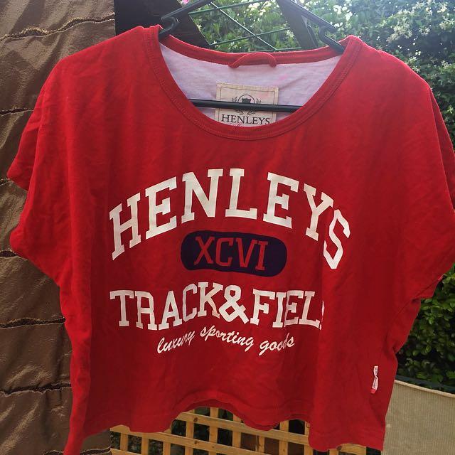 Ladies Henleys Crop