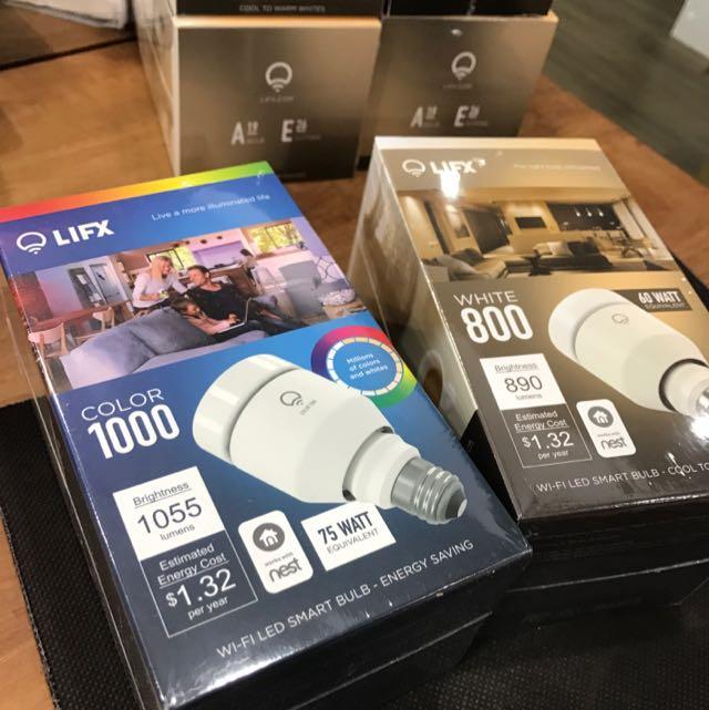 LIFX 智慧燈泡 雲端物聯網 手機網路WiFi控制 彩色LED