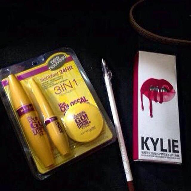 Lips Kylie dan Maybeline 3in1