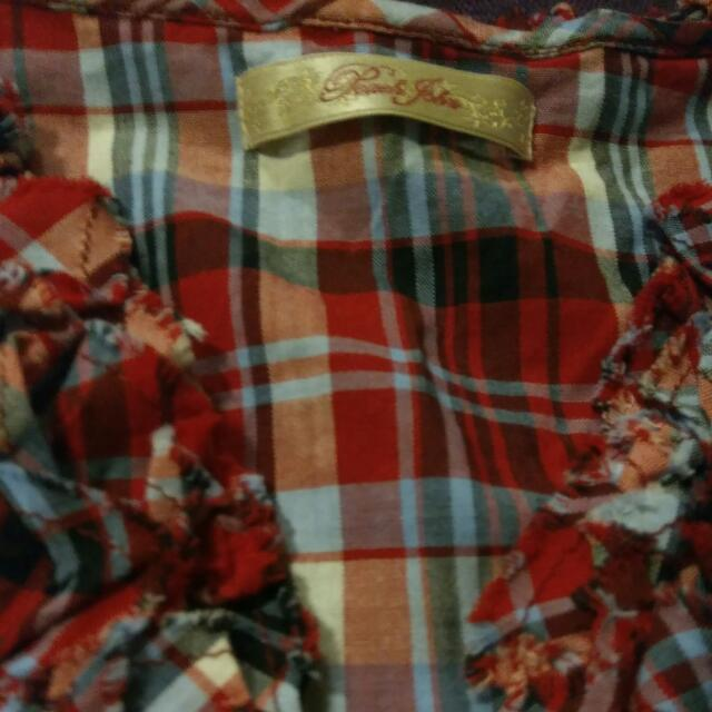 Peach John Red Checkered Dress