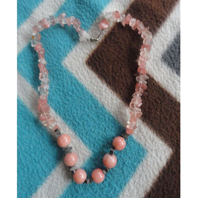 Pink Crystallized Necklace