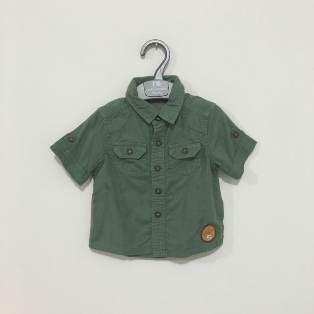 Preloved Mothercare Army Look Shirt