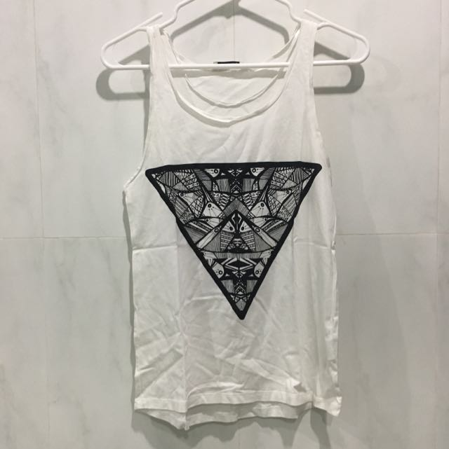 Pull And Bear Graphic Tanktop