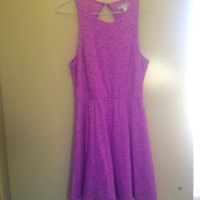 Purple Lace Dress From Cotton On