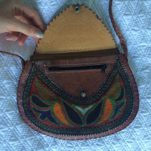 Random Leather Indian Bag