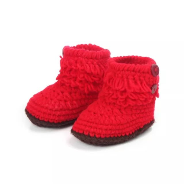 Red Crochet Boots