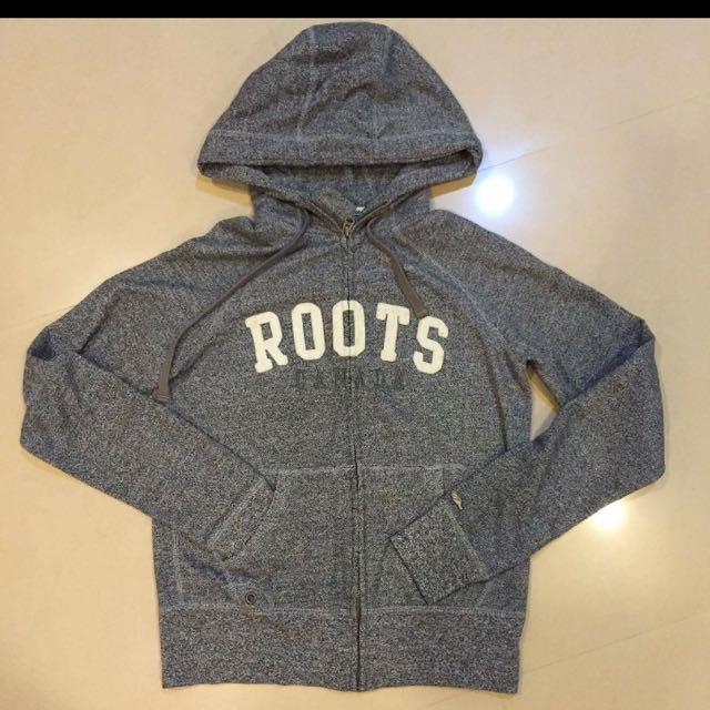 待匯/Roots 灰色外套-m