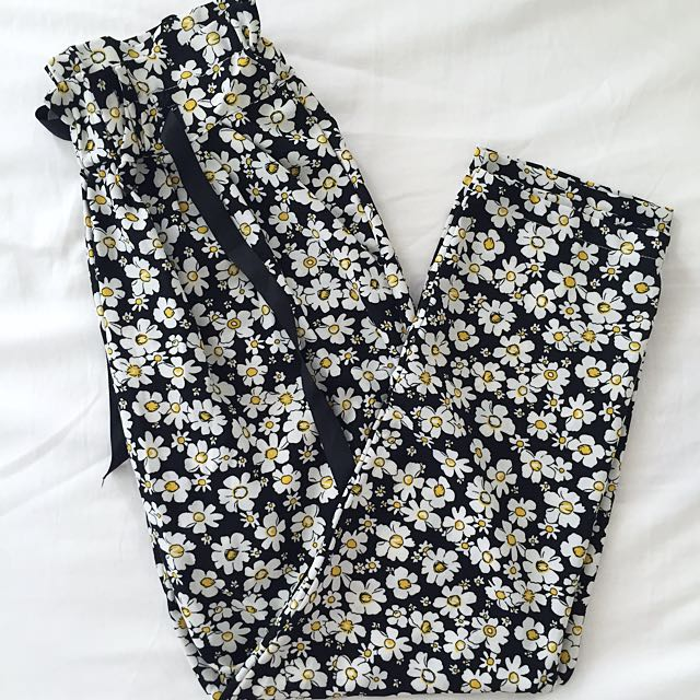 Silky Floral Pants