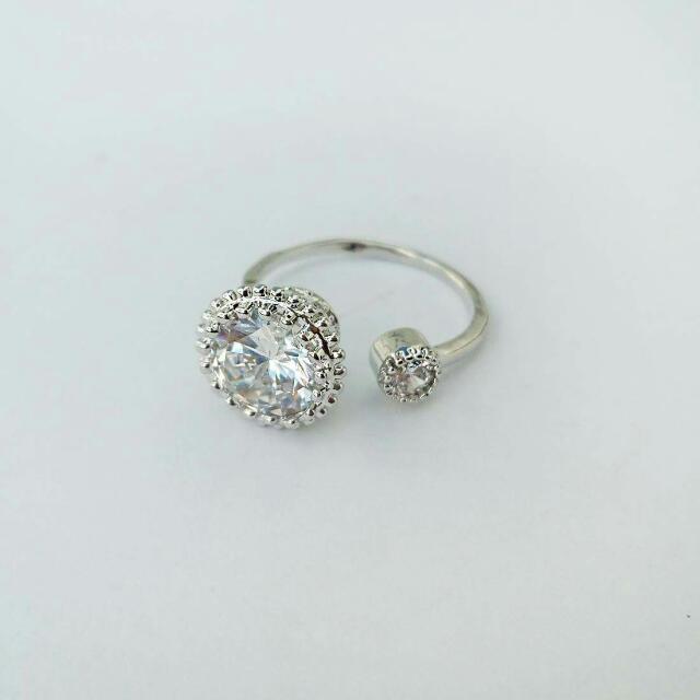 Snowball Zircon Ring