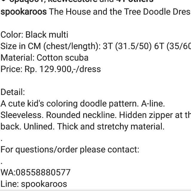 SPOOKAROOS Doodle Dress