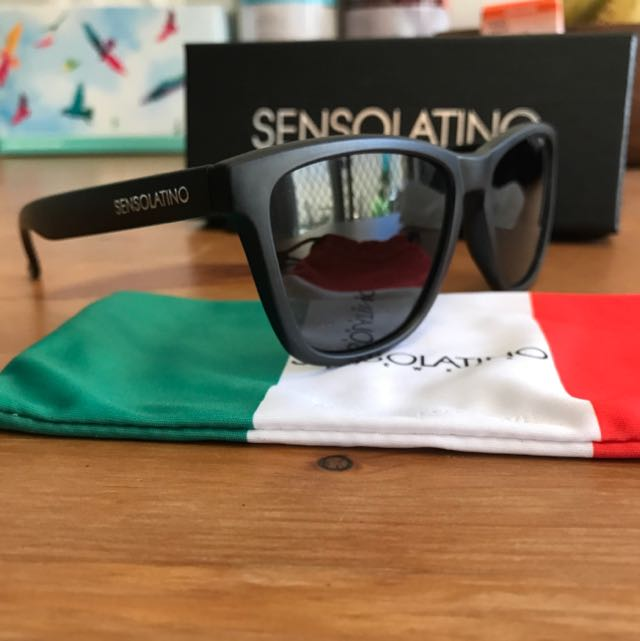 Sunglasses SENSOLATINO POLARIZED Black New Brand From Italy.