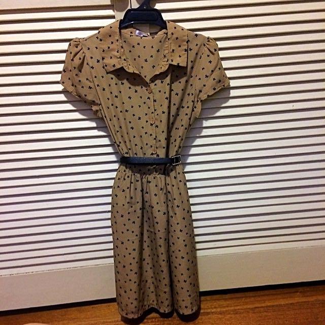 Tempt Dress With Adjustable Belt