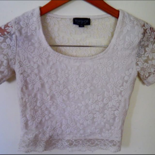 TOPSHOP LACE CROP