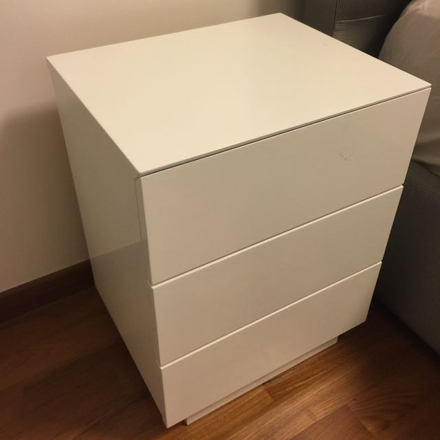 White Bedside Table X 2