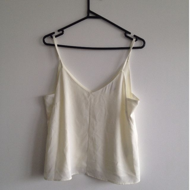 White Cami with Side Panel Detail