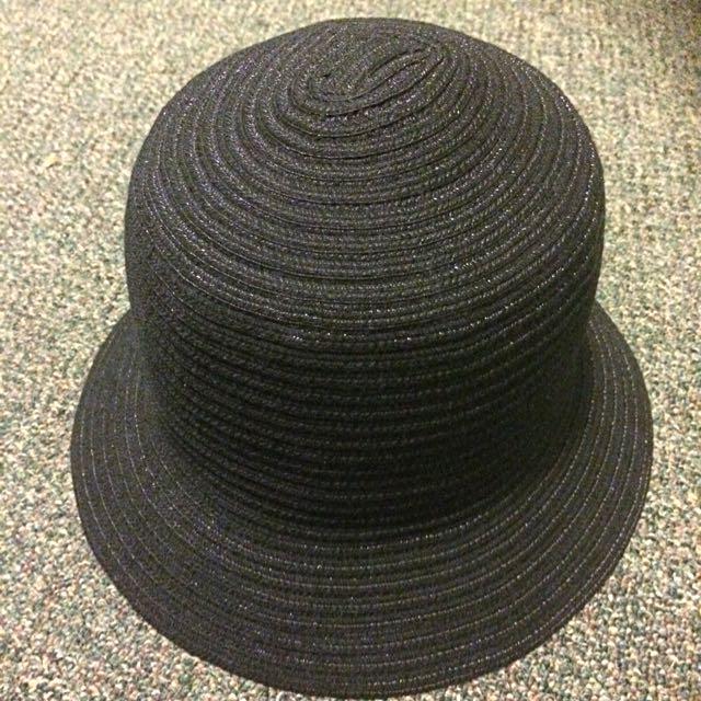 Womens Cloche Hat Bucket Black Vintage