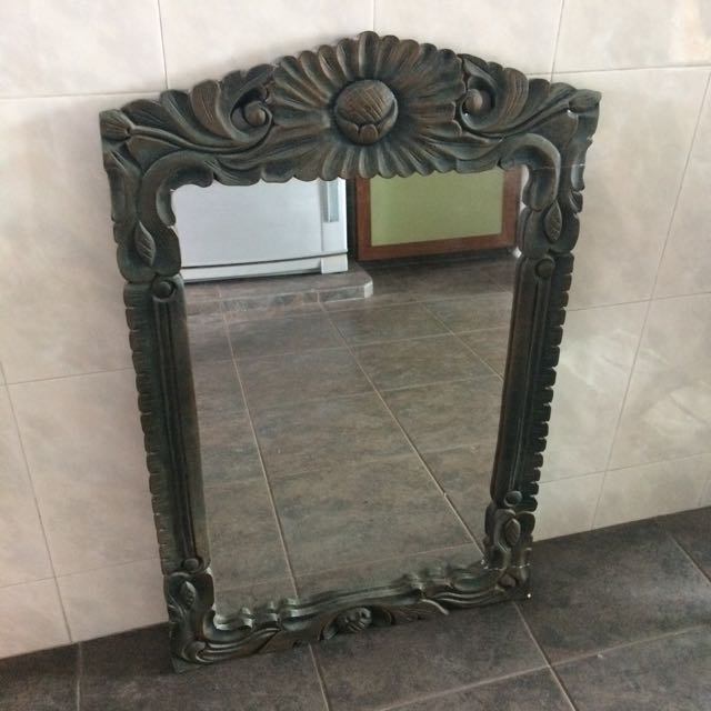 (Reserved) Wood Carved Mirror