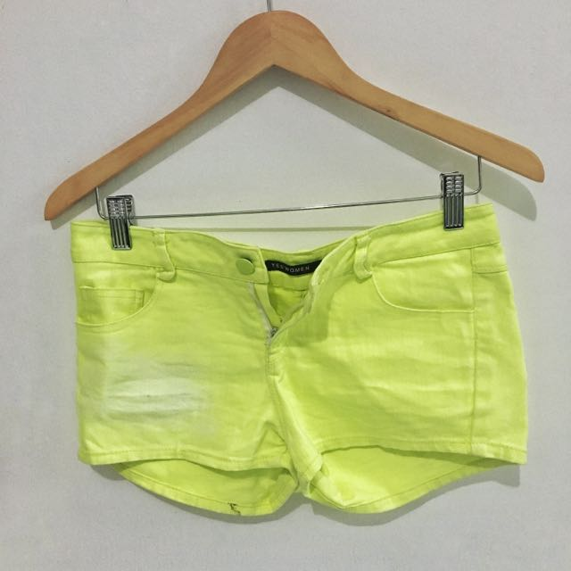 Yellow Neon Short Pants