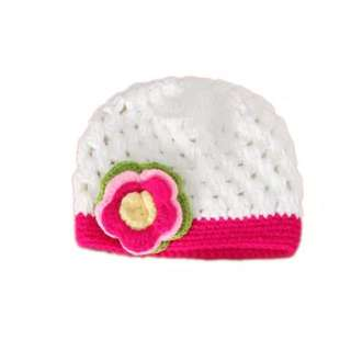 Pink & White Crochet Hat