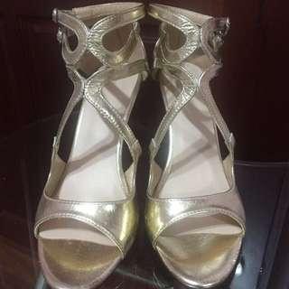 香檳金 高跟鞋