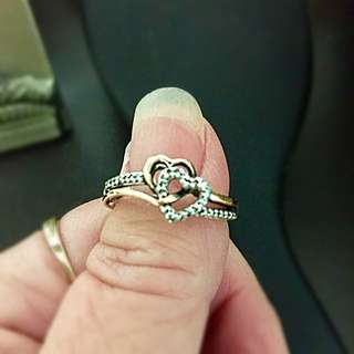 Dual Heart Ring
