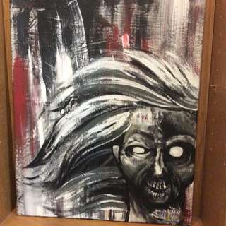 Original Zombie Canvas Painting