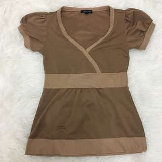 Brown Top By Simplicity