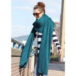 🚚 冬日保暖💕2入柔軟針織加厚款寬版圍巾(兩色合售)