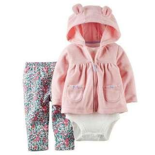 美國Carter's原單寶寶包屁衣超值三件組