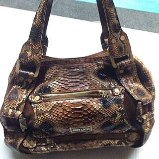 Jimmy Choo Maddy Snake Print Bag