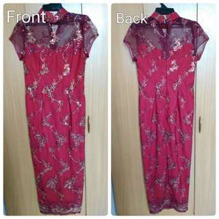 Red Cheongsam with beads #SEPPAYDAY