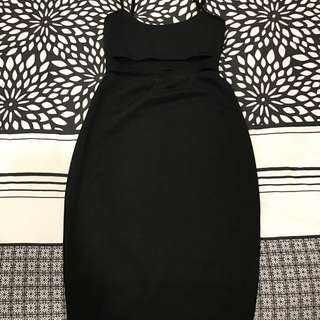 Showpo Black Bodycon Midi Dress Size 8