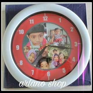 Jam dinding Photo preorder buat sendiri, souvenir, kado