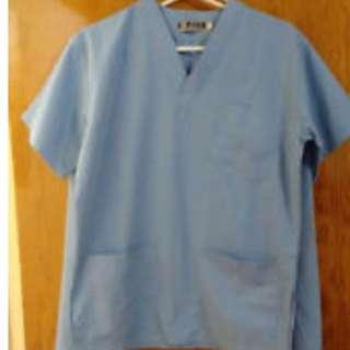NEW! Light Blue Unisex Medical Scrubs