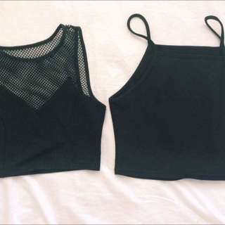 Black Crop Tops