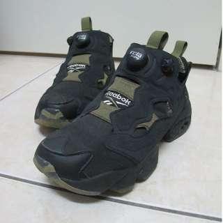 原價5900 REEBOK INSTA PUMP FURY OG SYN TIGER CAMO 黑 虎紋迷彩 充氣慢跑鞋 女段