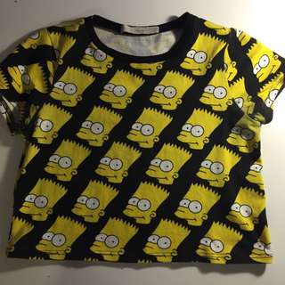 Bart Simpson crop top ✨