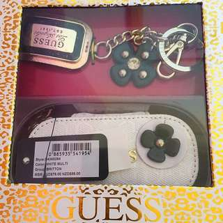 Guess Keyring & Makeup Case Set
