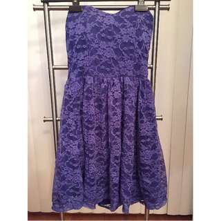 Strapless Summer Dress (BLUE, SIZE XS/S)