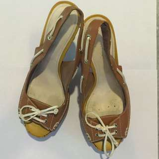 Charles & Keith Brown Bow Shoes