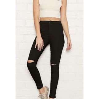 High Waisted Forever New Black Jeans