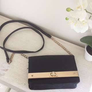 Black And Gold Clutch Bag