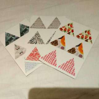 REDUCED - Triangle Patterned Stickers