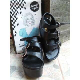 Claude Black Sandals