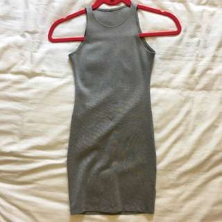 Grey Bodycon Short Dress