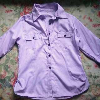 Purple Striped Long Sleeve