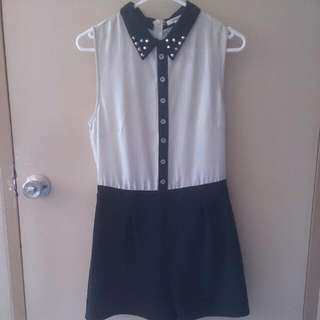 Monochrome Grundge Playsuit
