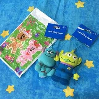 🚚 正版Disney日本東京迪士尼帶回三眼怪玩偶娃娃小吊飾